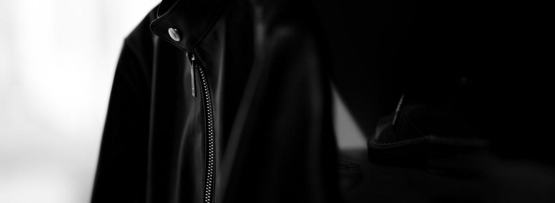 cuervo bopoha (クエルボ ヴァローナ) Satisfaction Leather Collection (サティスファクション レザー コレクション) RICHARD (リチャード) COW LEATHER (カウレザー) シングル ライダース ジャケット BLACK (ブラック) MADE IN JAPAN (日本製) 2019 秋冬のイメージ