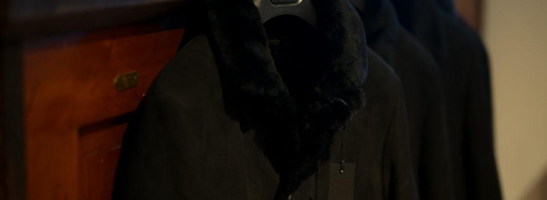 EMMETI (エンメティ) NAT (ナット) Merino Mouton (メリノ ムートン) シングル ムートンコート NERO (ブラック) Made in italy (イタリア製) 2019 秋冬新作 【入荷しました】【フリー分発売開始】のイメージ