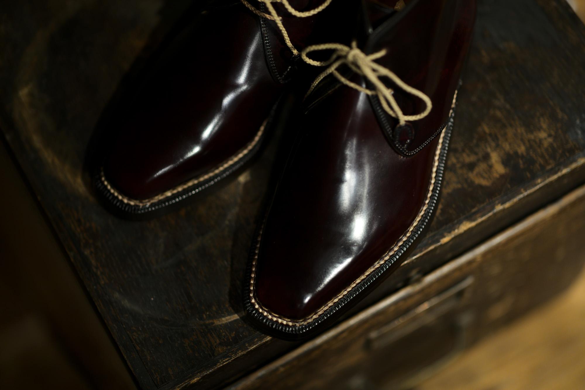 ENZO BONAFE(エンツォボナフェ) ART.3722 Chukka boots チャッカブーツ Horween Shell Cordovan Leather ホーウィン社 シェルコードバンレザー ノルベジェーゼ製法 チャッカブーツ コードバンブーツ No.8(バーガンディー)  made in italy (イタリア製)  愛知 名古屋 Alto e Diritto アルト エ デリット エンツォボナフェ コードバン チャッカ 5.5,6,6.5,7,7.5,8,8.5,9,9.5
