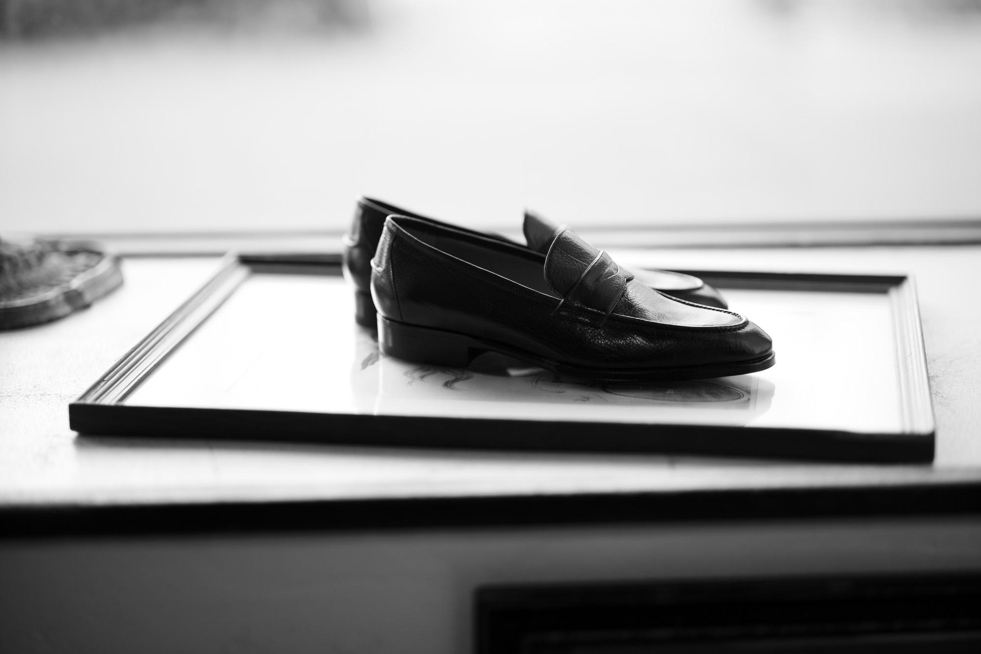 ENZO BONAFE(エンツォボナフェ) ART. EB-08 Coin Loafer コインローファー LAMA ラマレザー ドレスシューズ ローファー NERO(ブラック) made in italy (イタリア製) 2019 秋冬 【ご予約受付中】 愛知 名古屋 enzobonafe エンツォボナフェ eb08 ローファー zodiac nagoya alto e diritto altoediritto アルトエデリット コードバン