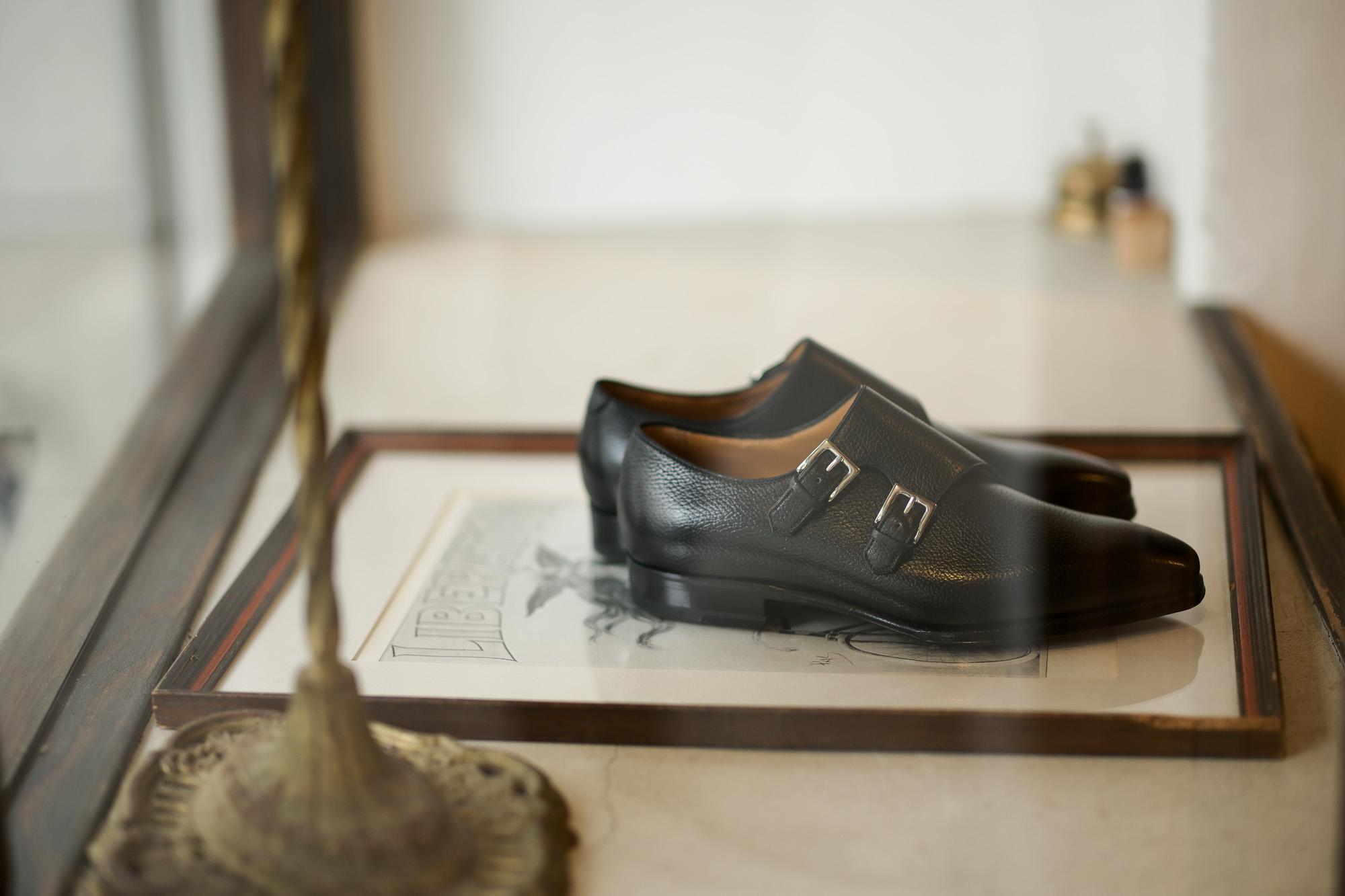 ENZO BONAFE(エンツォボナフェ) EB-36 Double Monk Strap Shoes INCA Leather ダブルモンクストラップシューズ NERO (ブラック) made in italy (イタリア製) 2020秋冬 enzobonafe eb36 エンツォボナフェ altoediritto アルトエデリット