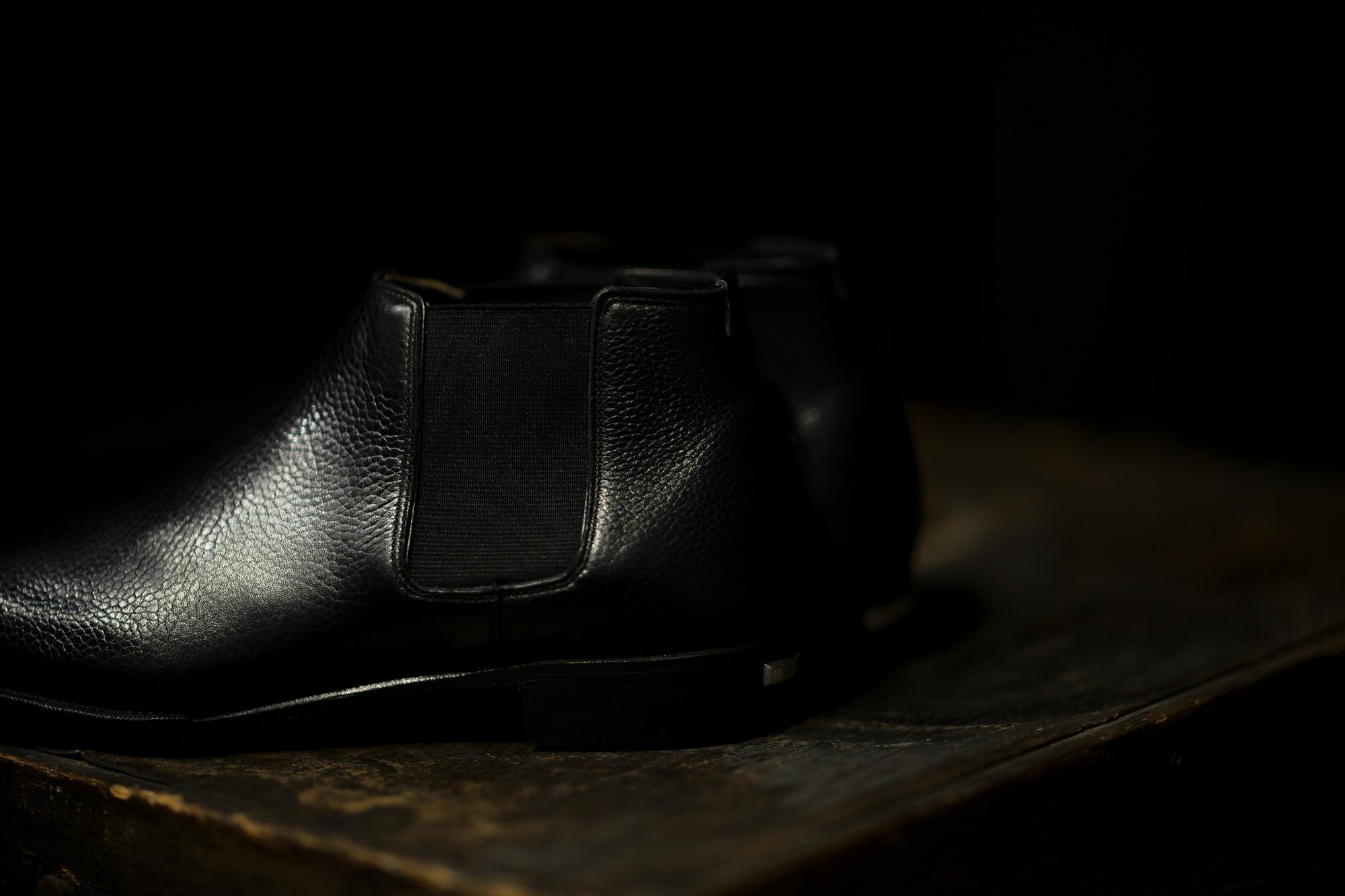 Georges de Patricia(ジョルジュ ド パトリシア) Diablo (ディアブロ) 925 STERLING SILVER (925 スターリングシルバー) Shrunken Calf (シュランケンカーフ) サイドゴアブーツ NOIR (ブラック) 2019 春夏新作 【Special Boots】【第2便ご予約受付中】アルトエデリット ジョルジュドパトリシア ブーツ 超絶ブーツ ランボルギーニ ディアブロ lamborghini
