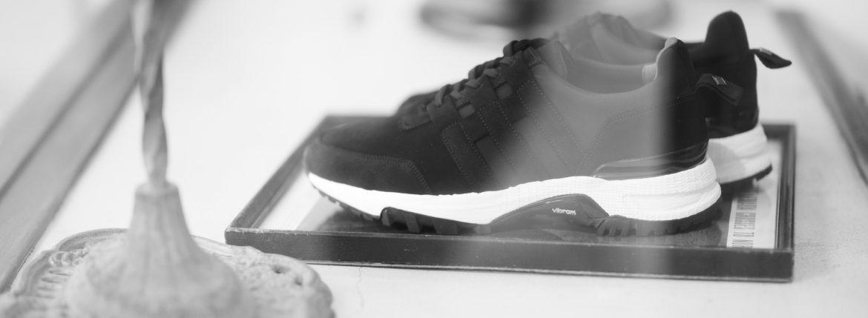WH (ダブルエイチ) WH-0111S Faster Last(ファスターラスト) Suede Leather スエードレザー スニーカー BLACK×WHITE (ブラック×ホワイト) MADE IN JAPAN (日本製) 2019 秋冬 【ご予約開始】【Alto e Diritto 別注 限定スエードモデル】のイメージ