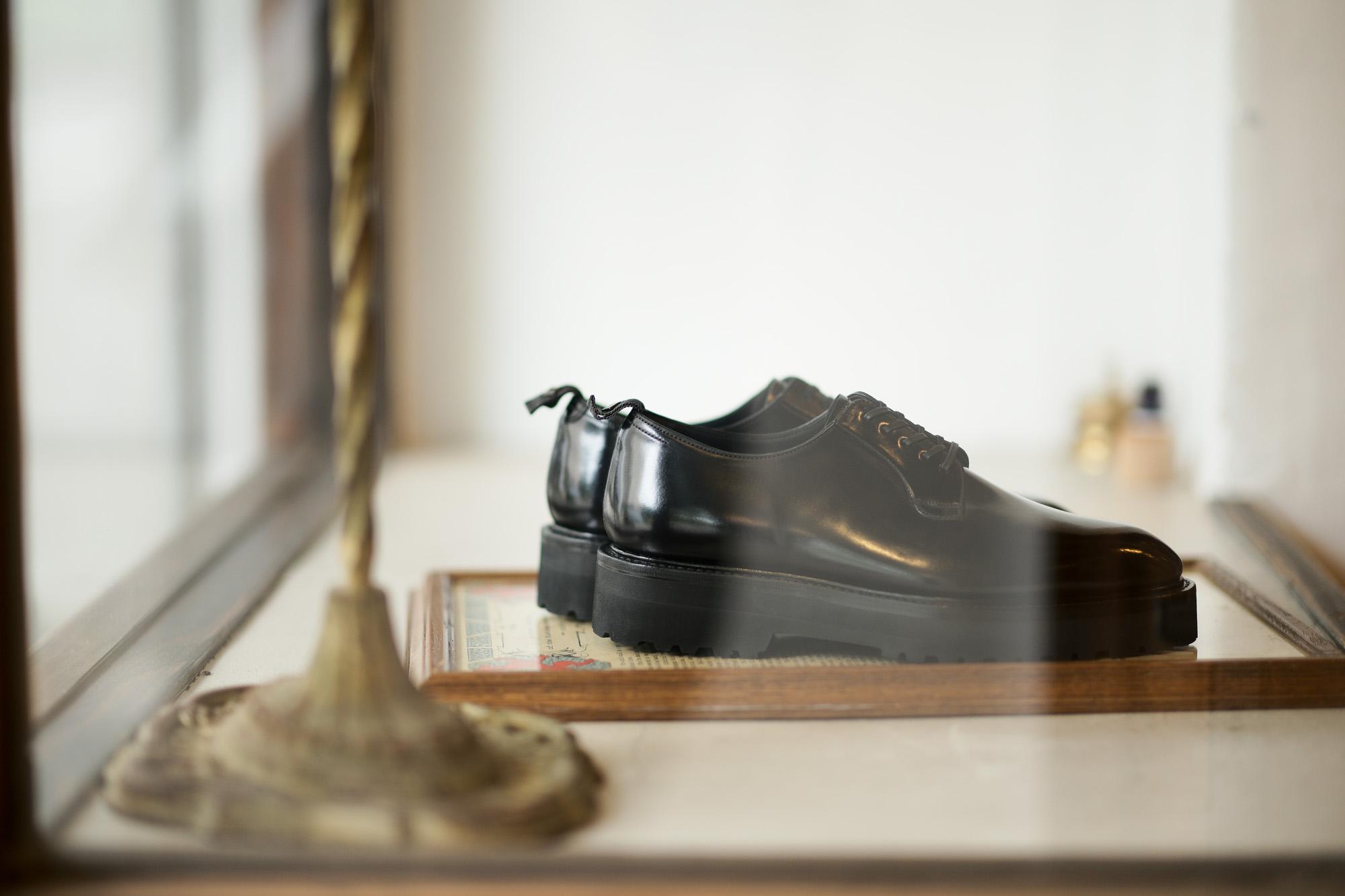 WH (ダブルエイチ) WHZ-0011 Cordovan Plane Toe Shoes (干場氏 スペシャル Zモデル) Trench Last (トレンチラスト) Shell Cordovan シェルコードバンレザー プレーントゥシューズ BLACK (ブラック) MADE IN JAPAN (日本製) 2019 秋冬 【Special限定モデル】【7月27日発売分】【ご予約受付中】愛知 名古屋 alto e diritto altoediritto アルトエデリット 干場義雅 干場さん