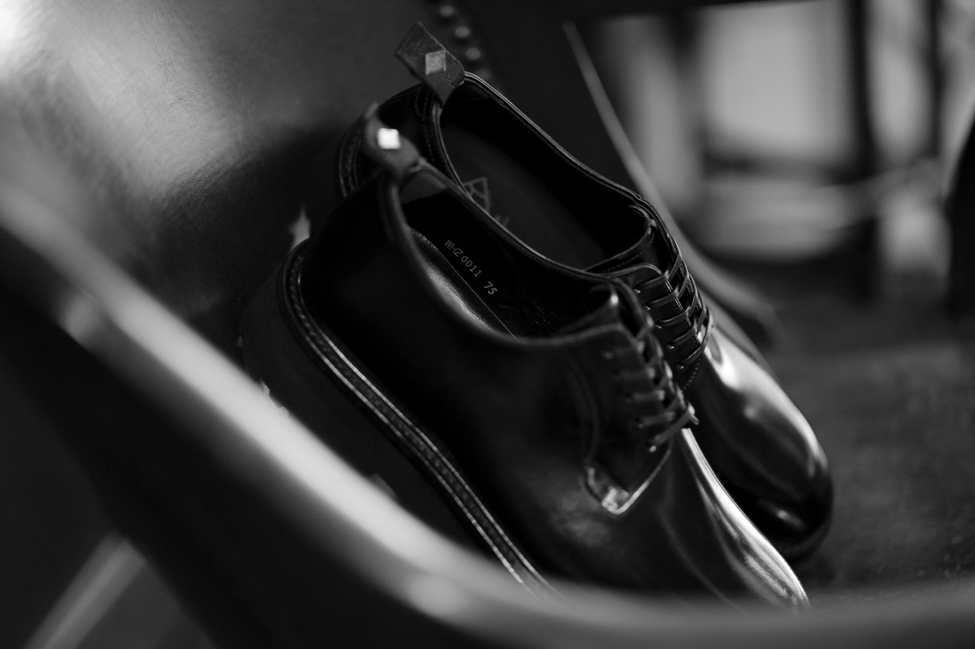 WH (ダブルエイチ) WHZ-0011 Cordovan Plane Toe Shoes (干場氏 スペシャル Zモデル) Trench Last (トレンチラスト) Shell Cordovan シェルコードバンレザー プレーントゥシューズ BLACK (ブラック) MADE IN JAPAN (日本製) 2019 秋冬 【Special限定モデル】【2019年12月発売分】【ご予約受付開始】愛知 名古屋 alto e diritto altoediritto アルトエデリット 干場義雅 干場さん