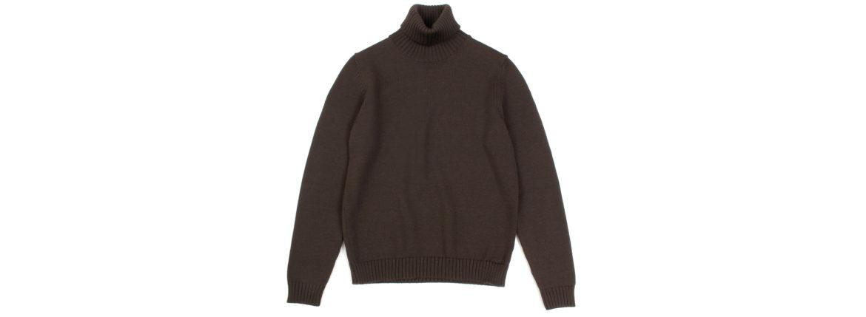 ZANONE (ザノーネ) Turtle Neck Sweater (タートルネックセーター) 810005 Z0229 VIRGIN WOOL 100% ミドルゲージ ウールニット セーター BROWN (ブラウン・Z5204) made in italy (イタリア製) 2019 秋冬 【ご予約受付中】のイメージ