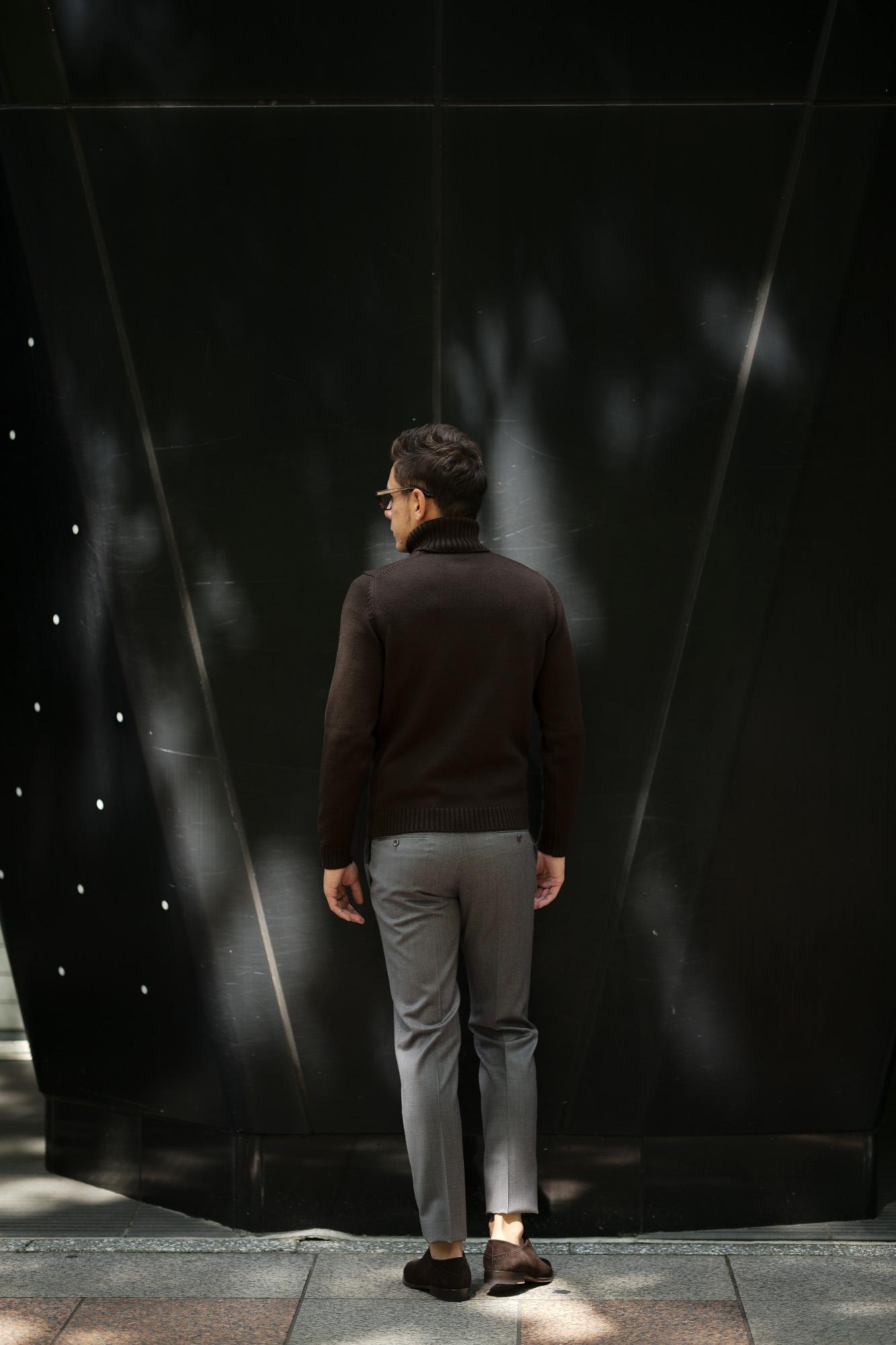 ZANONE (ザノーネ) Turtle Neck Sweater (タートルネックセーター) 810005 Z0229 VIRGIN WOOL 100% ミドルゲージ ウールニット セーター BROWN (ブラウン・Z5204) made in italy (イタリア製) 2019 秋冬 【ご予約受付中】zanone ニット クルーネック 愛知 名古屋 Alto e Diritto アルト エ デリット