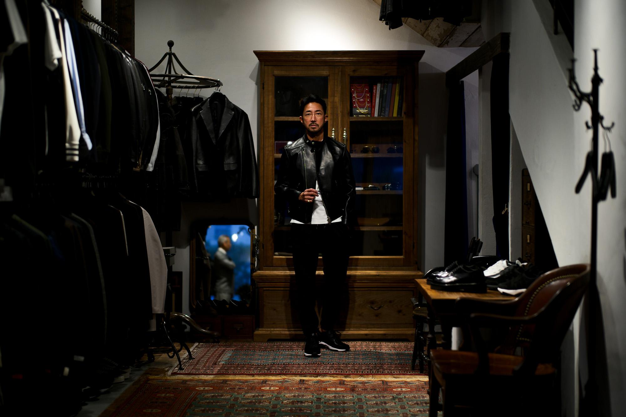 WH (ダブルエイチ) WH-0111 Faster Last(ファスターラスト) French Kip Leather フレンチキップ レザー スニーカー BLACK×WHITE (ブラック×ホワイト) MADE IN JAPAN (日本製) 2019 秋冬新作 愛知 名古屋 alto e diritto altoediritto アルトエデリット
