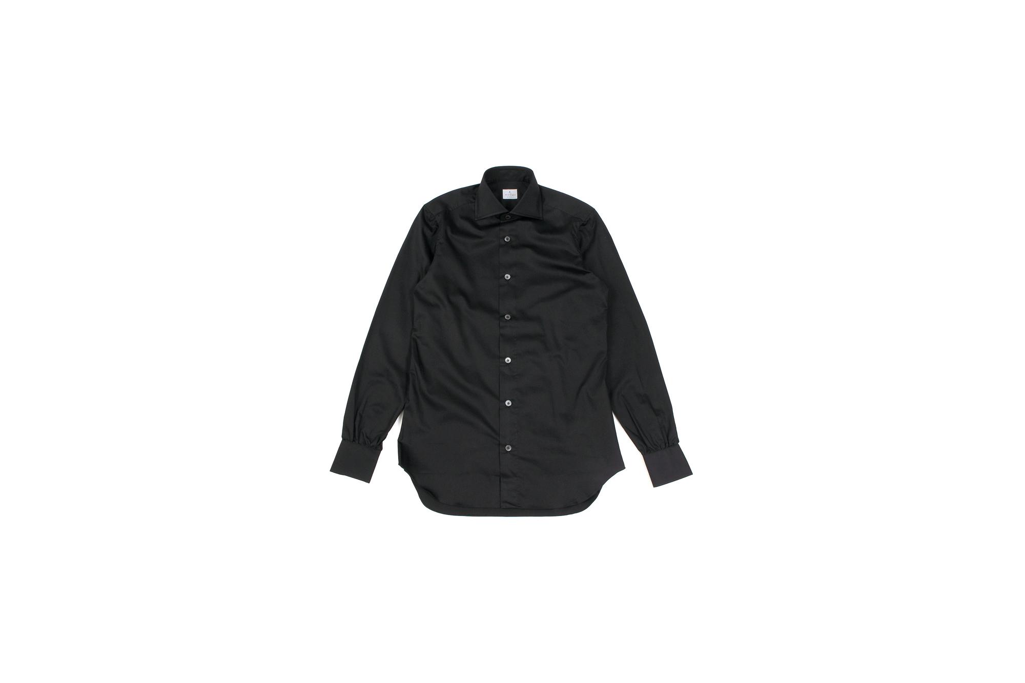 AVINO(アヴィーノ) Poplin Dress Shirts コットン ブロード ポプリン ドレスシャツ BLACK(ブラック) made in italy (イタリア製) 2019 秋冬新作 愛知 名古屋 altoediritto アルトエデリット