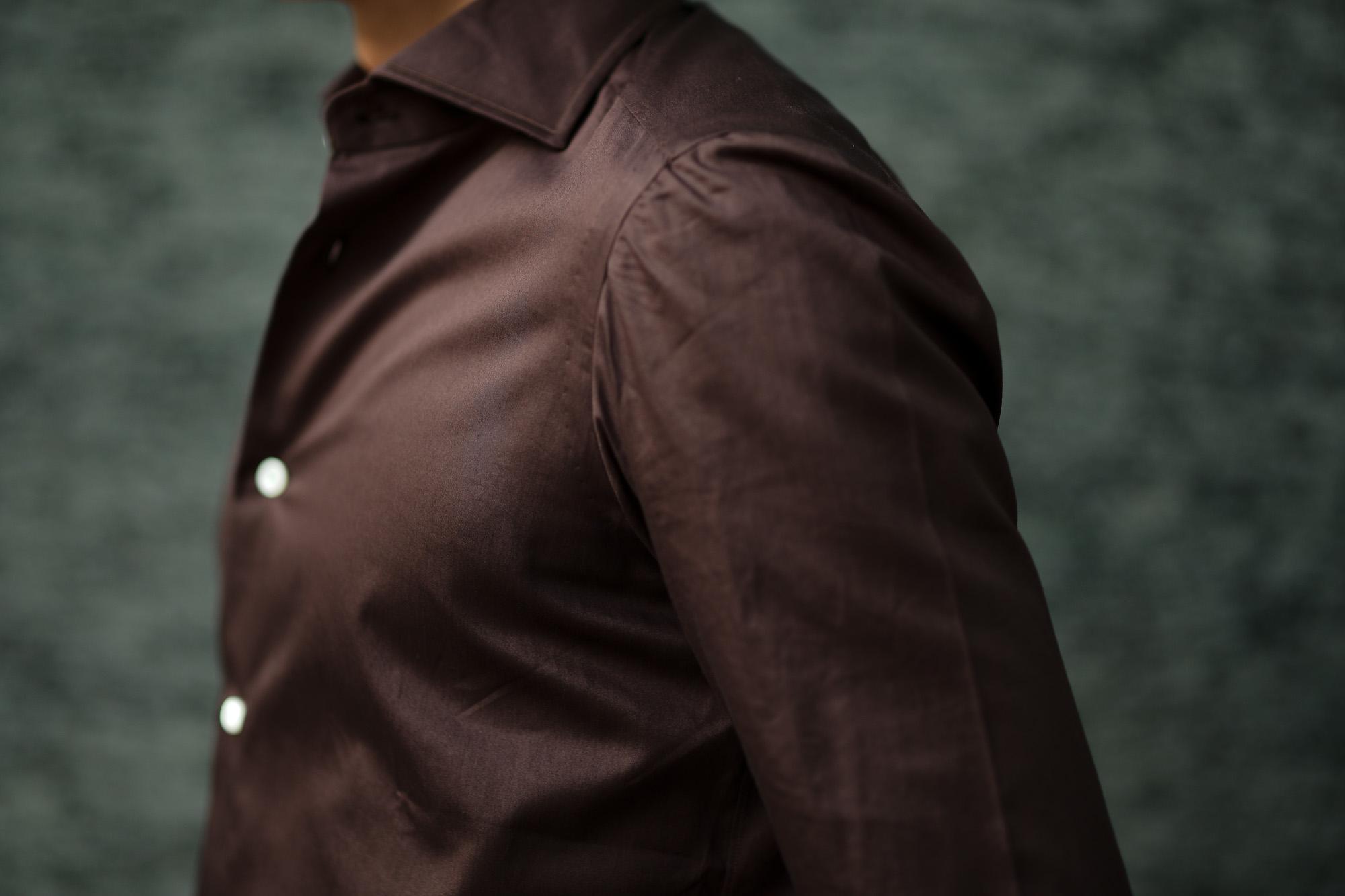 AVINO(アヴィーノ) Poplin Dress Shirts コットン ブロード ポプリン ドレスシャツ BROWN(ブラウン) made in italy (イタリア製) 2019 秋冬新作 愛知 名古屋 altoediritto アルトエデリット
