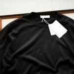 Cruciani (クルチアーニ) Silk Cashmere Crew Neck Sweater (シルクカシミヤ クルーネック セーター) ハイゲージ シルクカシミヤニット セーター BLACK (ブラック・30060) made in italy (イタリア製) 2019 秋冬新作のイメージ