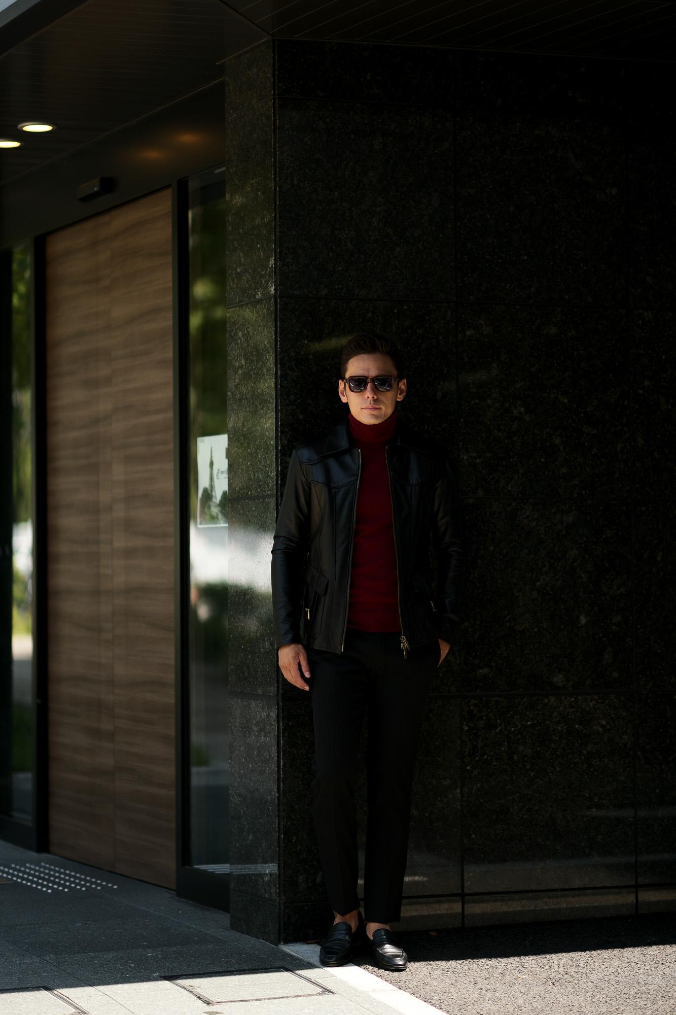 Cuervo (クエルボ) Satisfaction Leather Collection (サティスファクション レザー コレクション) East West(イーストウエスト)  SMOKE(スモーク) BUFFALO LEATHER (バッファロー レザー) レザージャケット BLACK(ブラック) MADE IN JAPAN (日本製) 2019 秋冬新作 愛知 名古屋 altoediritto アルトエデリット 洋服屋 レザージャケット サウスパラディソ eastwest