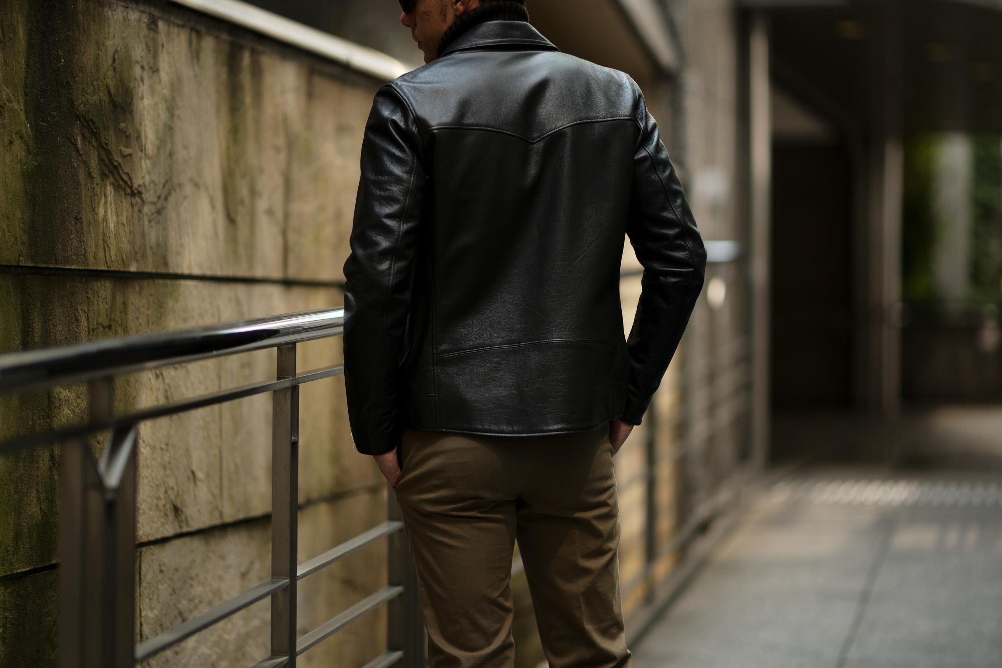 Cuervo (クエルボ) Satisfaction Leather Collection (サティスファクション レザー コレクション) TOM (トム) BUFFALO LEATHER (バッファロー レザー) シングル ライダース ジャケット BROWN (ブラウン) MADE IN JAPAN (日本製) 2019 秋冬新作 クエルボ レザージャケット 愛知 名古屋 alto e diritto アルトエデリット セレクトショップ