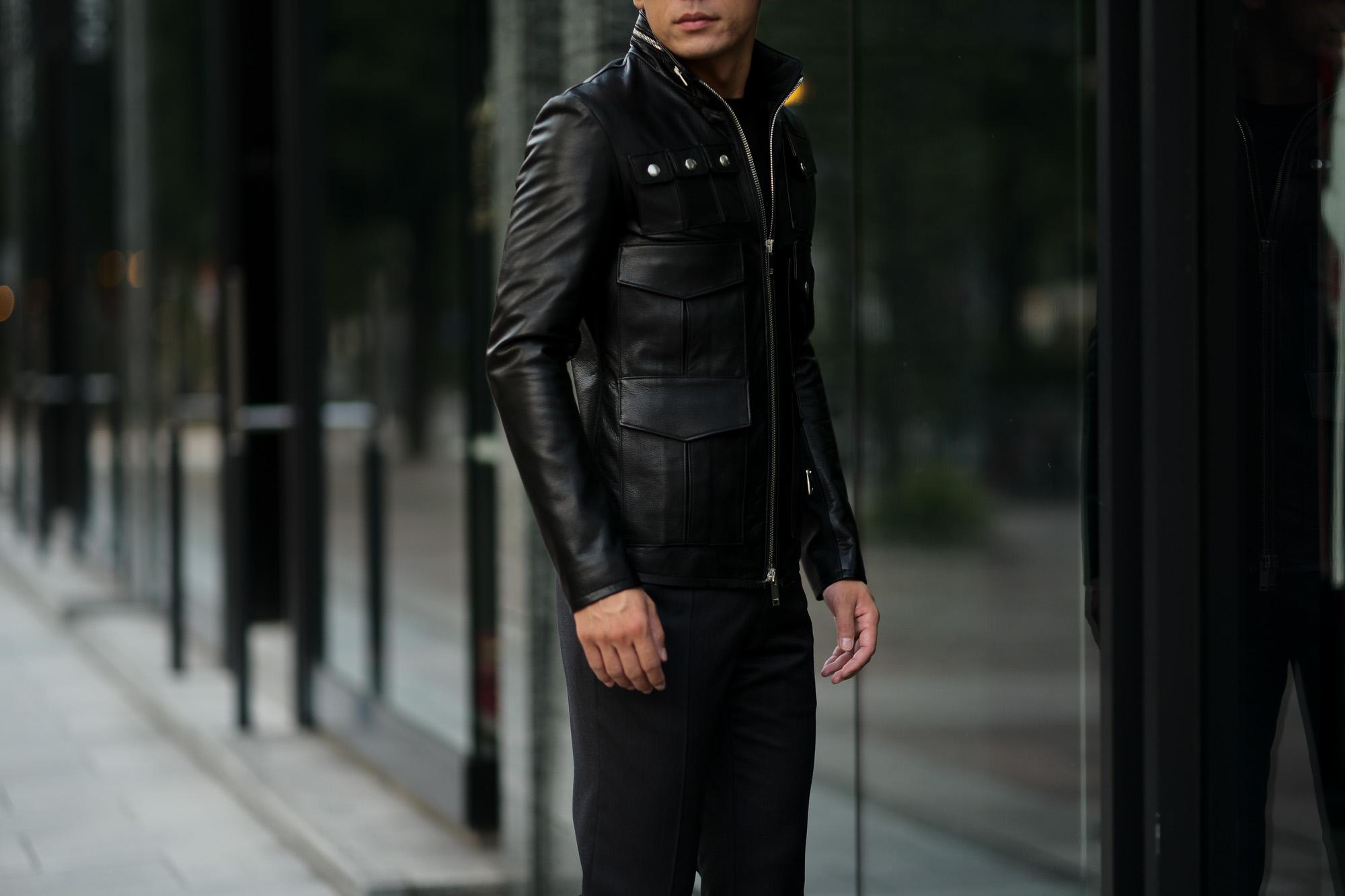 Cuervo (クエルボ) Satisfaction Leather Collection (サティスファクション レザー コレクション) HUNK(ハンク) BUFFALO LEATHER (バッファロー レザー) レザージャケット BLACK(ブラック) MADE IN JAPAN (日本製) 2019 秋冬新作 愛知 名古屋 altoediritto アルトエデリット バイオハザード ハンク バイオ BIOHAZARD
