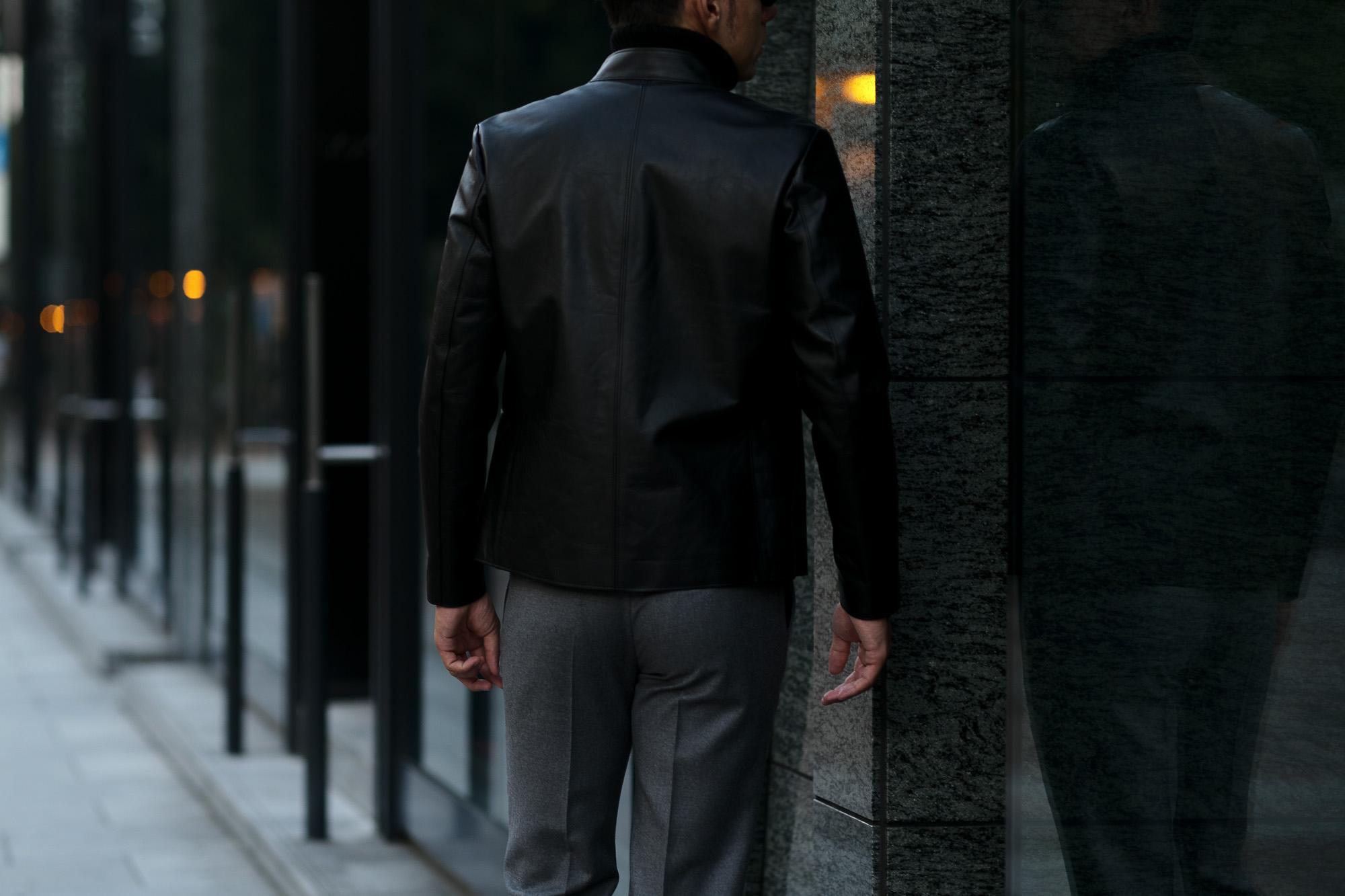 cuervo bopoha (クエルボ ヴァローナ) Satisfaction Leather Collection (サティスファクション レザー コレクション) RICHARD (リチャード) COW LEATHER (カウレザー) シングル ライダース ジャケット BLACK (ブラック) MADE IN JAPAN (日本製) 2019 秋冬新作 cuervobopoha 愛知 名古屋 altoediritto アルトエデリット