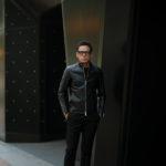 cuervo bopoha (クエルボ ヴァローナ) Satisfaction Leather Collection (サティスファクション レザー コレクション) RICHARD (リチャード) COW LEATHER (カウレザー) シングル ライダース ジャケット BLACK (ブラック) MADE IN JAPAN (日本製) 2019 秋冬新作のイメージ