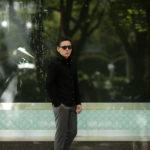 cuervo bopoha(クエルボ ヴァローナ) Satisfaction Leather Collection (サティスファクション レザー コレクション) Noel (ノエル) COW HIDE NUBUCK カウハイド ヌバック レザーシャツ BLACK (ブラック) MADE IN JAPAN (日本製) 2019 秋冬新作のイメージ