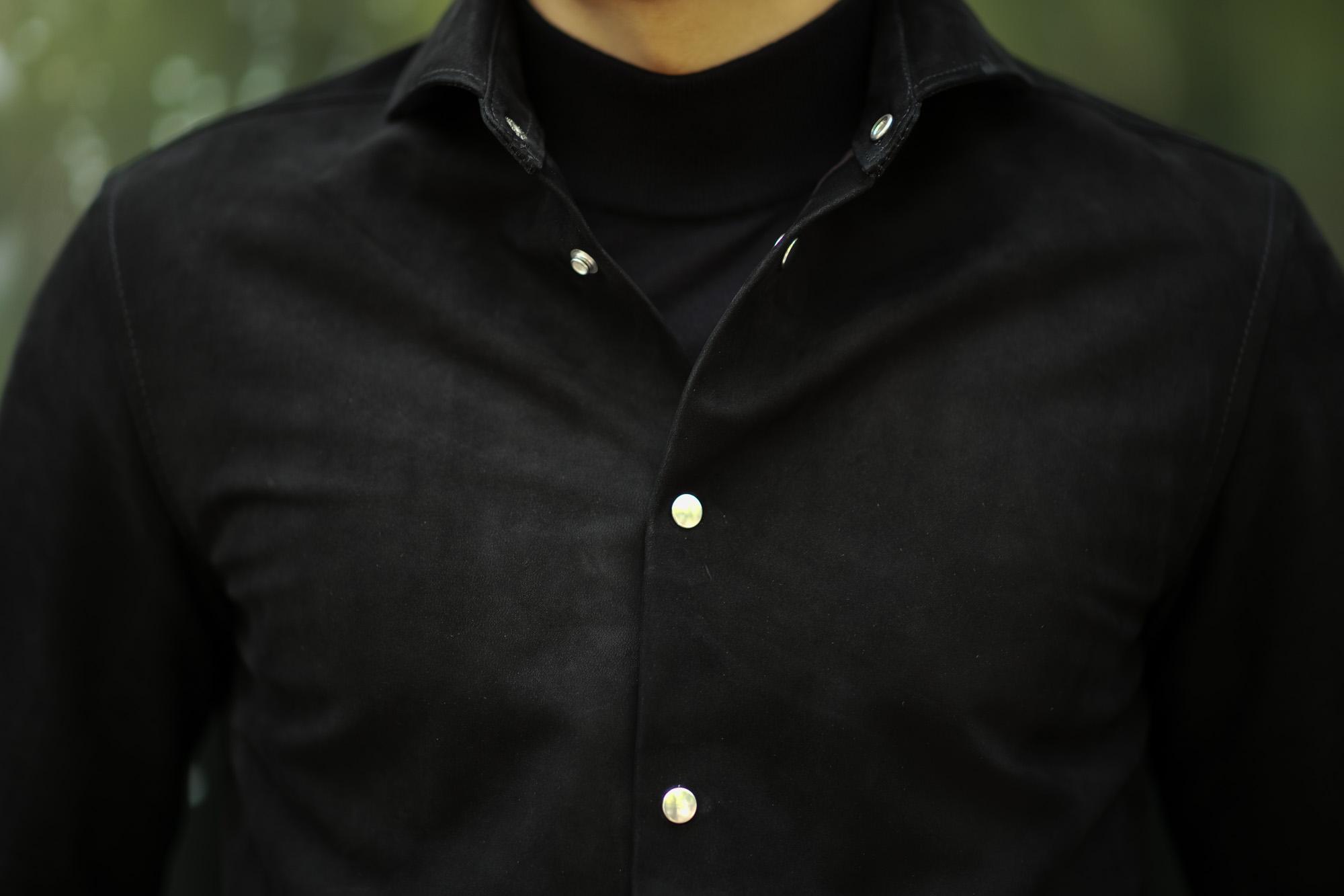cuervo bopoha(クエルボ ヴァローナ) Satisfaction Leather Collection (サティスファクション レザー コレクション) Noel (ノエル) COW HIDE NUBUCK カウハイド ヌバック レザーシャツ BLACK (ブラック) MADE IN JAPAN (日本製) 2019 秋冬新作 愛知 名古屋 altoediritto アルトエデリット