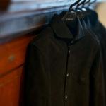 cuervo bopoha(クエルボ ヴァローナ) Satisfaction Leather Collection (サティスファクション レザー コレクション) Noel (ノエル) HORSE NUBUCK ホースヌバック レザーシャツ BLACK (ブラック) MADE IN JAPAN (日本製) 2019 秋冬新作 【入荷しました】のイメージ