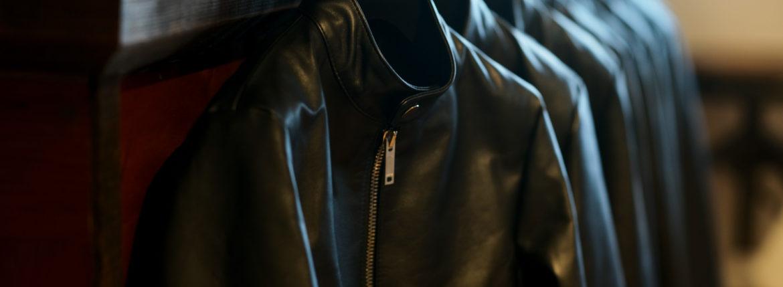 cuervo bopoha (クエルボ ヴァローナ) Satisfaction Leather Collection (サティスファクション レザー コレクション) RICHARD (リチャード) COW LEATHER (カウレザー) シングル ライダース ジャケット BLACK (ブラック) MADE IN JAPAN (日本製) 2019 秋冬新作 【入荷しました】【フリー分発売開始】のイメージ
