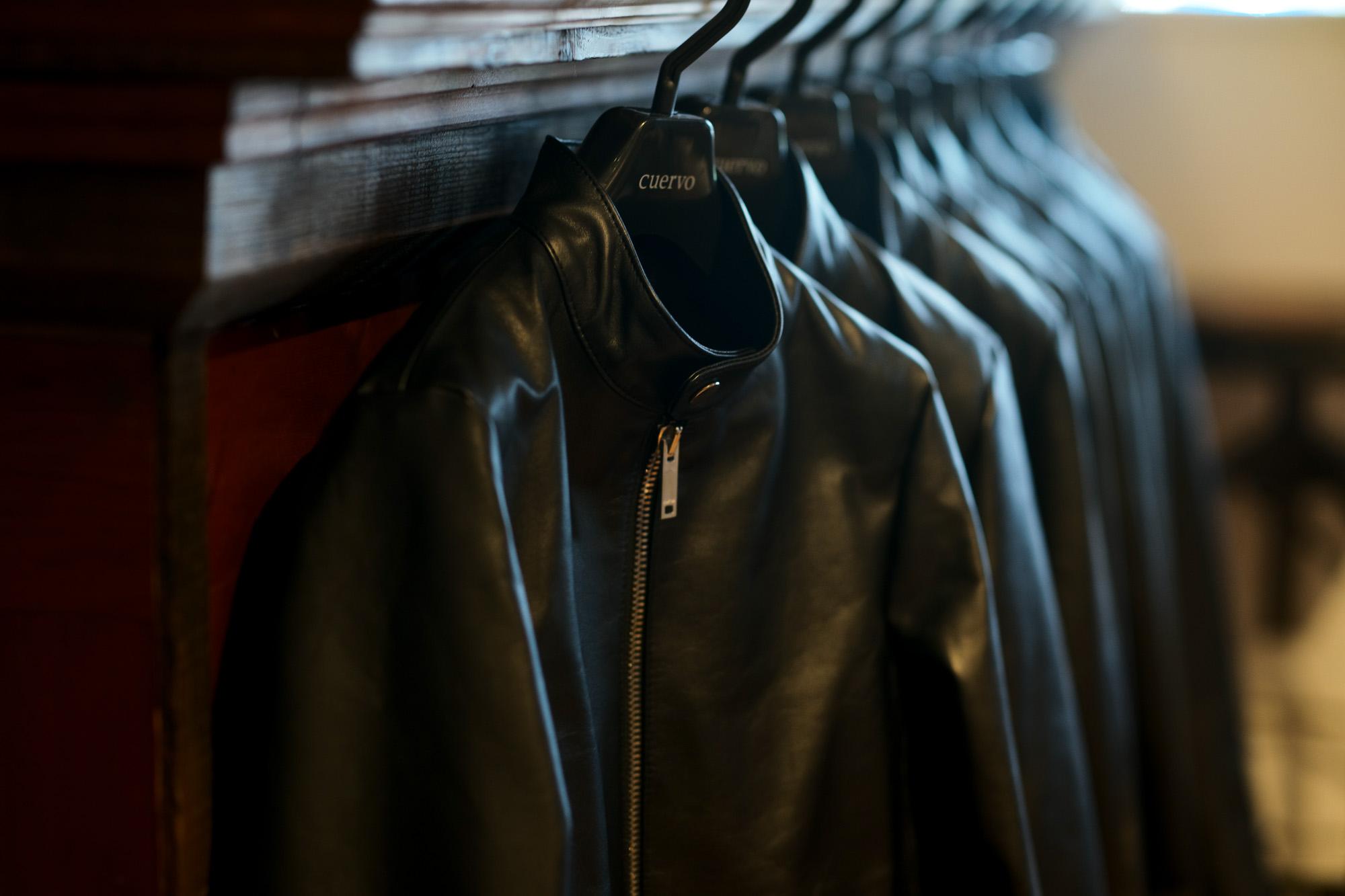 cuervo bopoha (クエルボ ヴァローナ) Satisfaction Leather Collection (サティスファクション レザー コレクション) RICHARD (リチャード) COW LEATHER (カウレザー) シングル ライダース ジャケット BLACK (ブラック) MADE IN JAPAN (日本製) 2019 秋冬新作 【入荷しました】【フリー分発売開始】 cuervobopoha 愛知 名古屋 altoediritto アルトエデリット