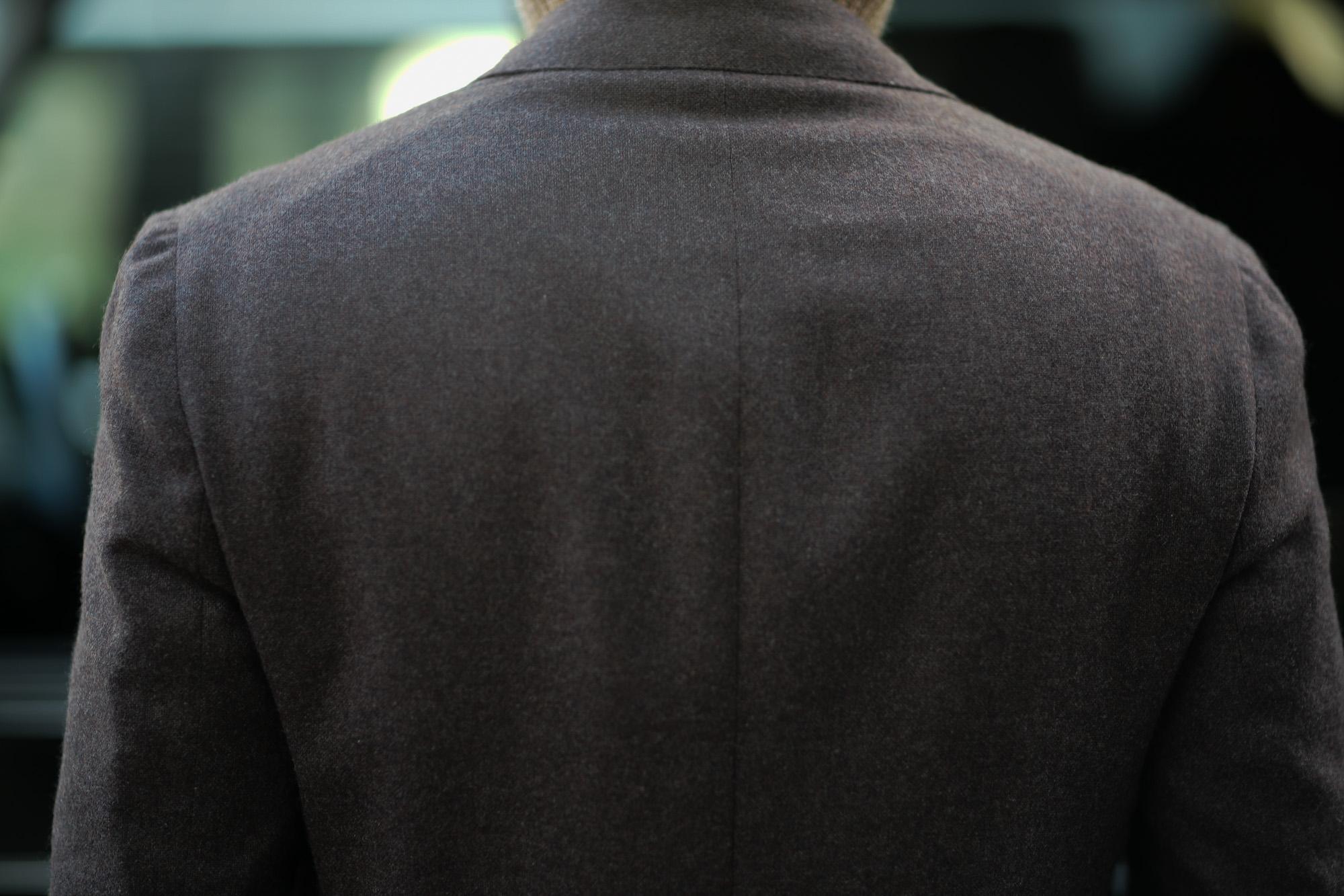 De Petrillo (デ ペトリロ) NAPOLI Posillipo (ナポリ ポジリポ) カシミア モールスキン 段返り3B ジャケット BROWN (ブラウン・358) Made in italy (イタリア製) 2019 秋冬新作 depetrillo デペトリロ 愛知 名古屋 altoediritto アルトエデリット