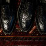ENZO BONAFE(エンツォボナフェ) BERING(ベーリング) Crocodile クロコダイル ノルベジェーゼ製法 Uチップシューズ エキゾチックレザーシューズ COCCO NERO (ブラック)  made in italy(イタリア製) 2019春夏新作のイメージ