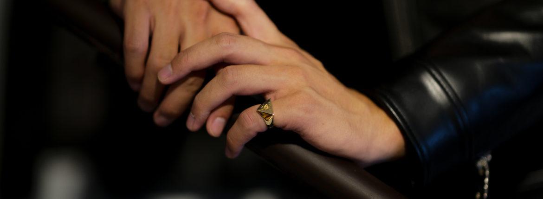 FIXER(フィクサー) ILLUMINATI EYES RING 18K GOLD イルミナティ アイズリング GOLD(ゴールド) 【ご予約受付中】のイメージ