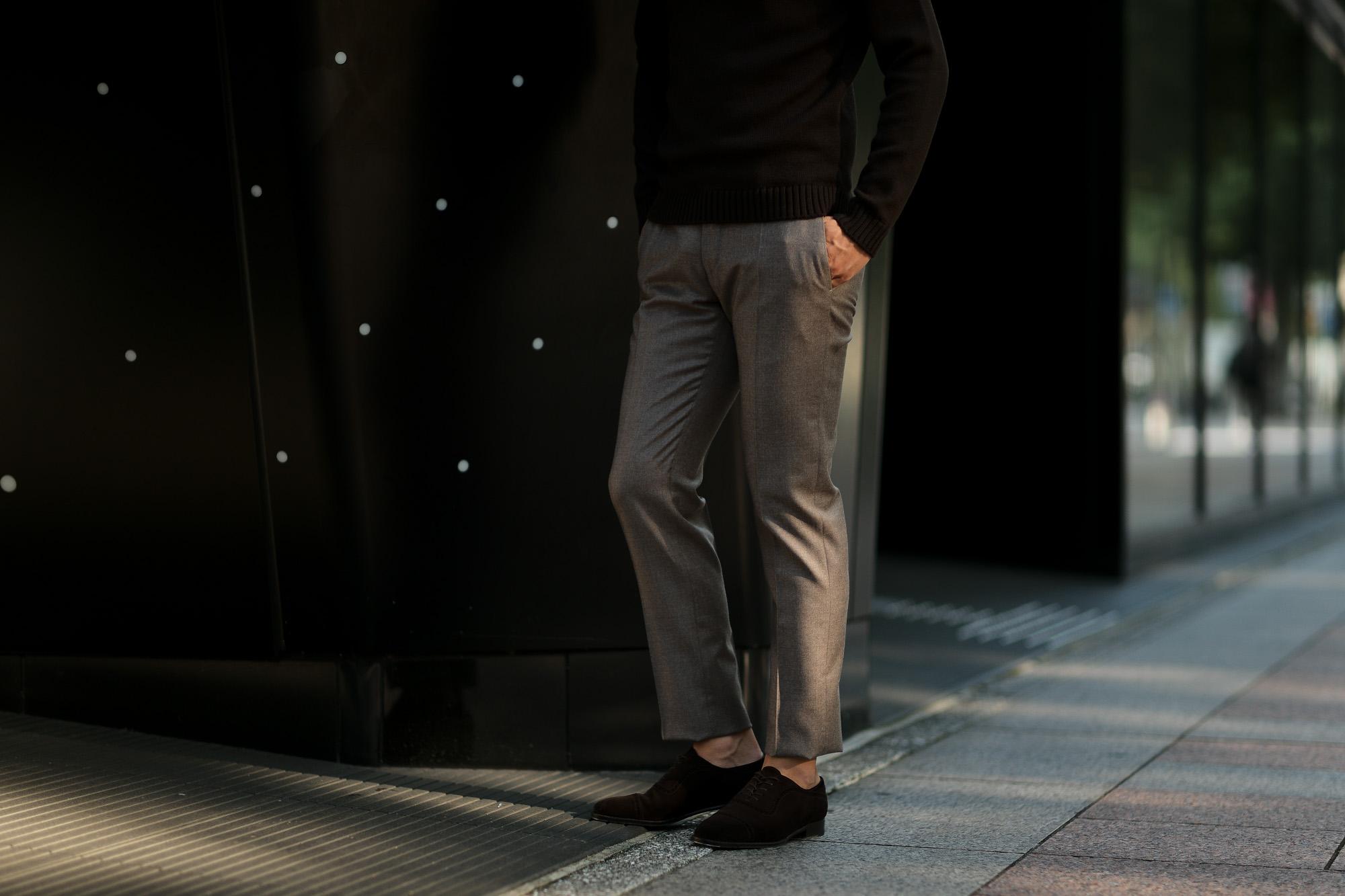 INCOTEX (インコテックス) N35 SLIM FIT (1NT035) SUPER 100'S WORSTED FLANNEL フランネル ウール スラックス BEIGE (ベージュ・420) 2019 秋冬新作 愛知 名古屋 altoediritto アルトエデリット