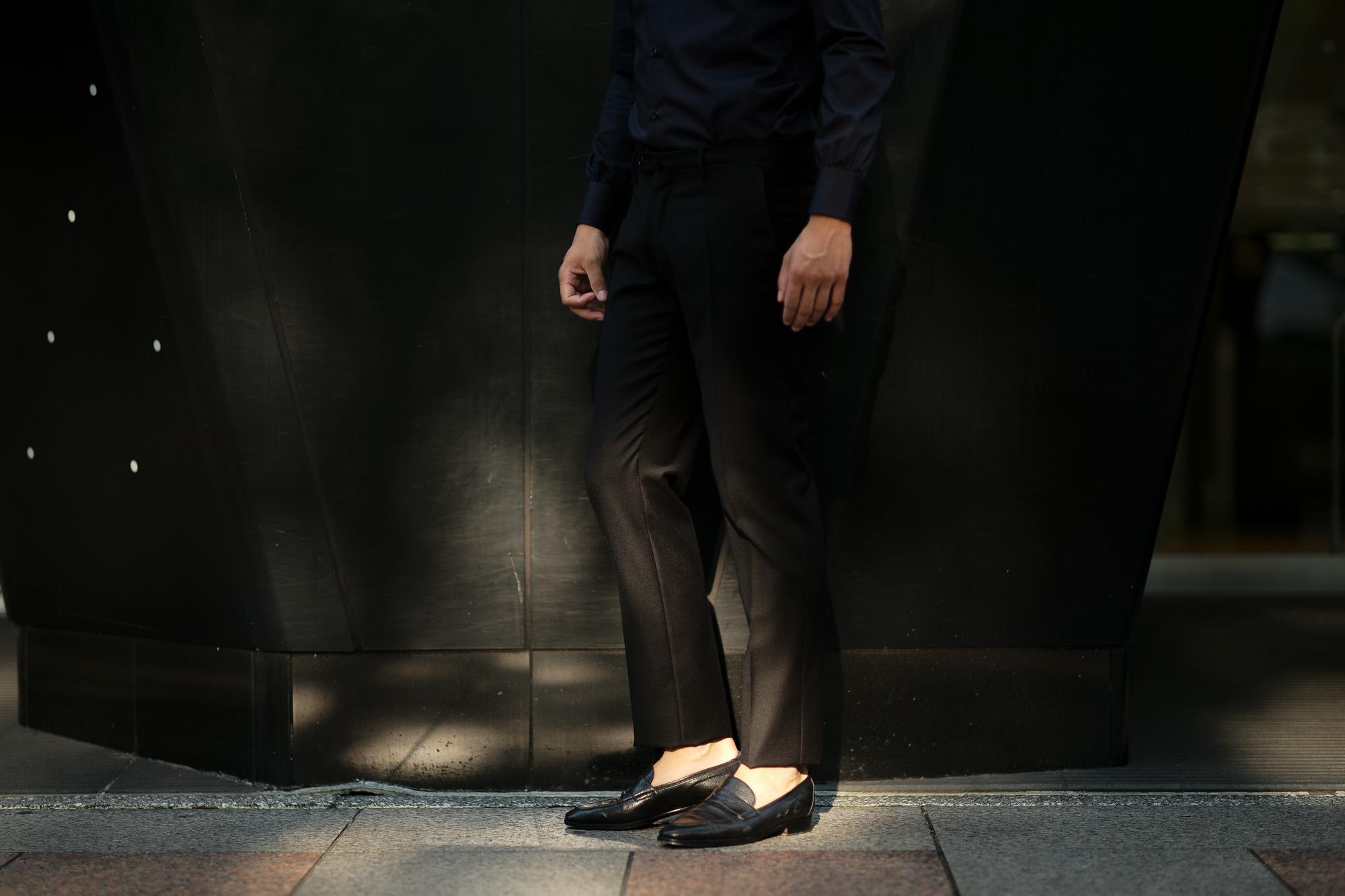 INCOTEX (インコテックス) N35 SLIM FIT (1NT035) SUPER 100'S WORSTED FLANNEL フランネル ウール スラックス BLACK (ブラック・990) 2019 秋冬新作 愛知 名古屋 altoediritto アルトエデリット