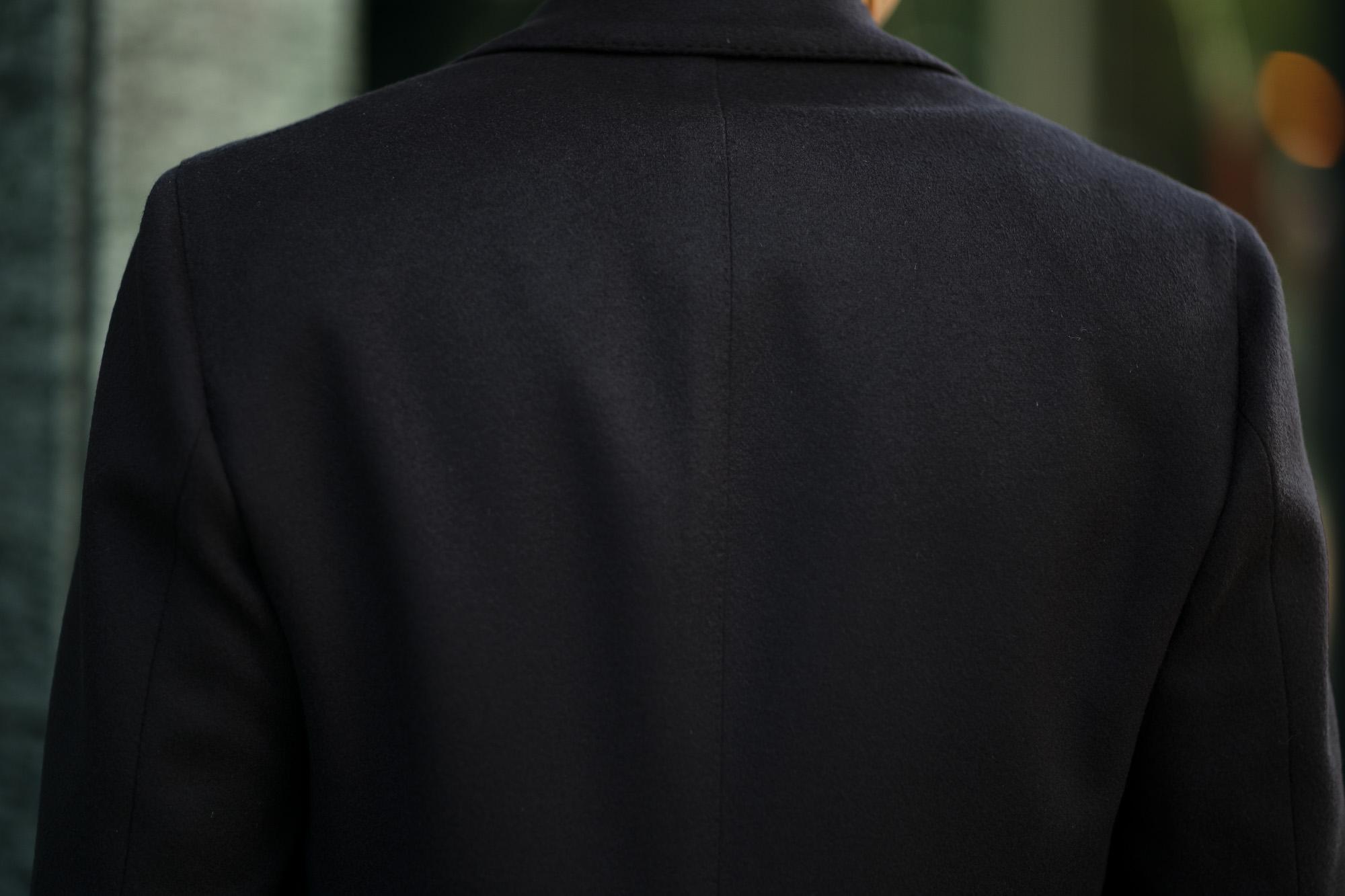 LARDINI (ラルディーニ) Spolverino Chester coat (スポルベリーノ チェスターコート) フラノウール生地 シングル チェスターコート NAVY (ネイビー・5) Made in italy (イタリア製) 2019 秋冬新作 alto e diritto altoediritto アルトエデリット