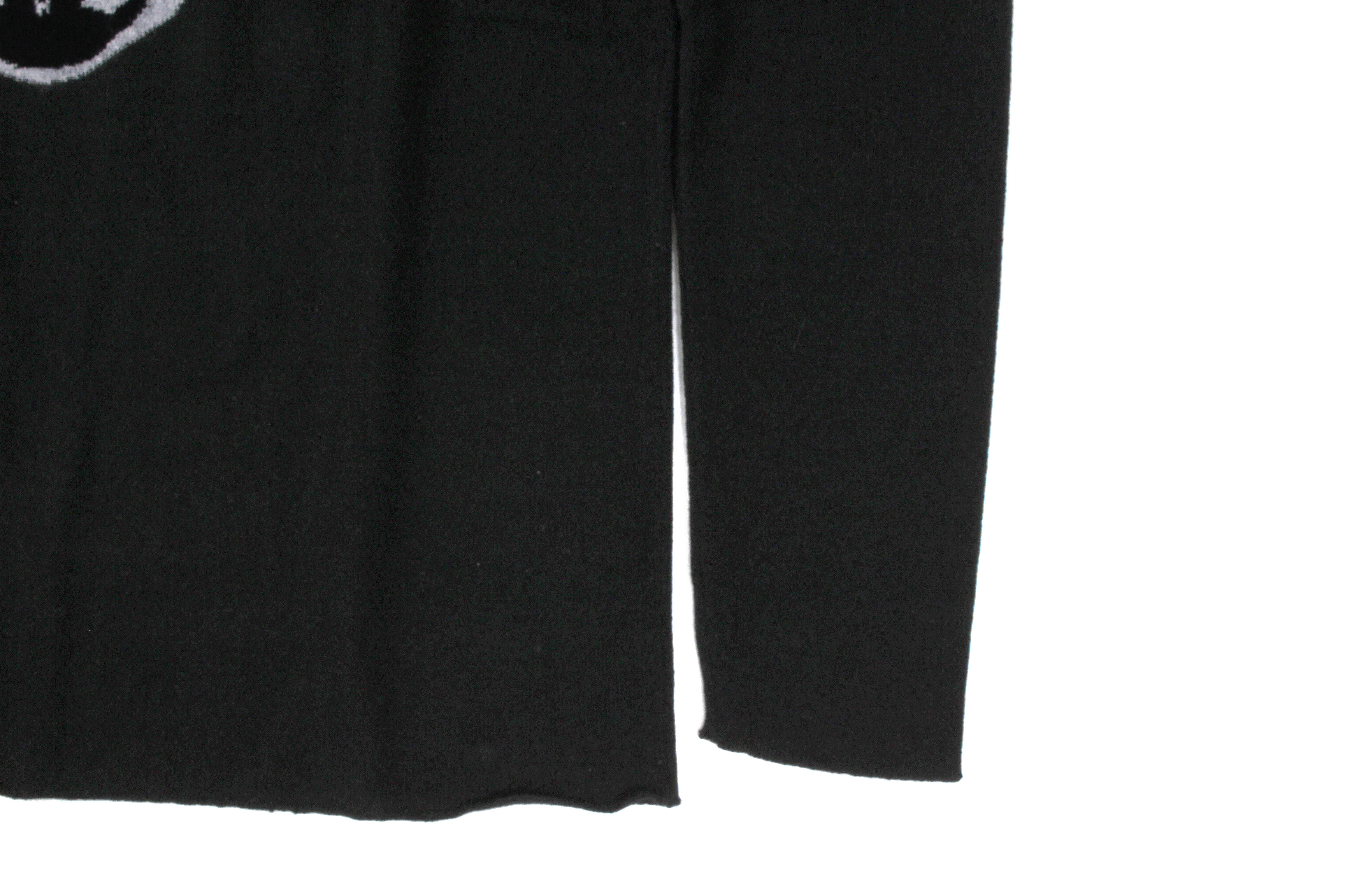lucien pellat-finet (ルシアン ペラフィネ) Skull Cashmere Sweater (スカル カシミア セーター) インターシャ カシミア スカル セーター BLACK × GRAY (ブラック × グレー) made in scotland (スコットランド製) 2019 秋冬新作 lucienpellatfinet ルシアンペラフィネ 愛知 名古屋 altoediritto アルトエデリット
