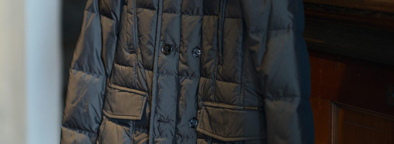 MOORER (ムーレー) SIRO-KM2 (シロ) ホワイトグースダウン ナイロン ダブルブレスト ダウンジャケット MARMOTTA(ブラウン・33) Made in italy (イタリア製) 2019 秋冬新作   【入荷しました】【フリー分発売開始】のイメージ