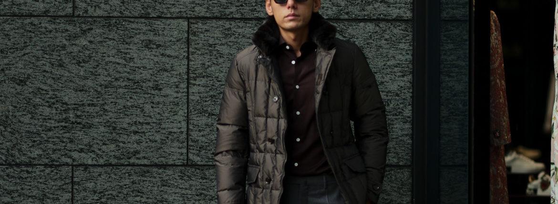 MOORER (ムーレー) SIRO-KM2 (シロ) ホワイトグースダウン ナイロン ダブルブレスト ダウンジャケット MARMOTTA(ブラウン・33) Made in italy (イタリア製) 2019 秋冬新作のイメージ