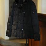 MOORER (ムーレー) SIRO-KM2 (シロ) ホワイトグースダウン ナイロン ダブルブレスト ダウンジャケット NERO(ブラック・08) Made in italy (イタリア製) 2019 秋冬新作  【入荷しました】【フリー分発売開始】のイメージ