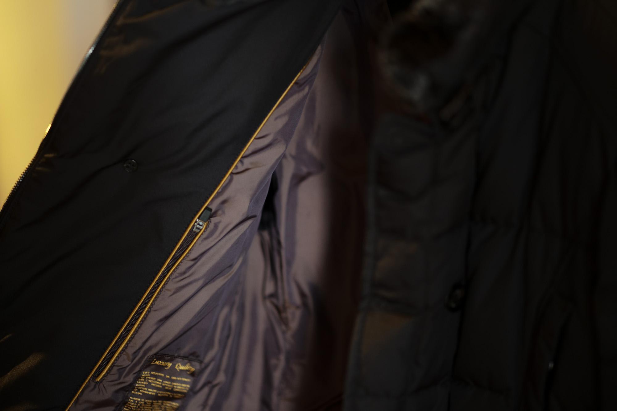 MOORER (ムーレー) SIRO-KM2 (シロ) ホワイトグースダウン ナイロン ダブルブレスト ダウンジャケット NERO(ブラック・08) Made in italy (イタリア製) 2019 秋冬新作 愛知 名古屋 altoediritto アルトエデリット ダウンジャケット