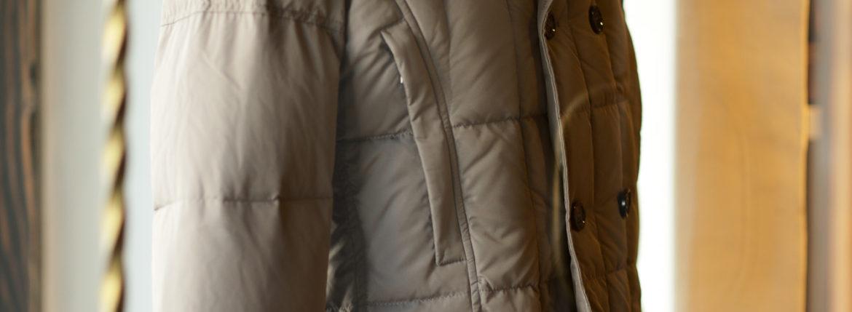 MOORER (ムーレー) SIRO-KM2 (シロ) ホワイトグースダウン ナイロン ダブルブレスト ダウンジャケット VISONE (ベージュ・32) Made in italy (イタリア製) 2019 秋冬新作のイメージ