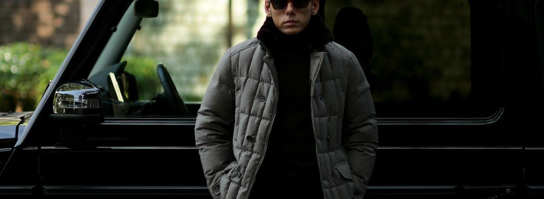 MOORER (ムーレー) SIRO-L (シロ) LoroPiana (ロロピアーナ) ウールカシミア ダブルブレスト ダウン ジャケット BEIGE (ベージュ・32)  Made in italy (イタリア製) 【2019 秋冬分 ご予約受付中】のイメージ