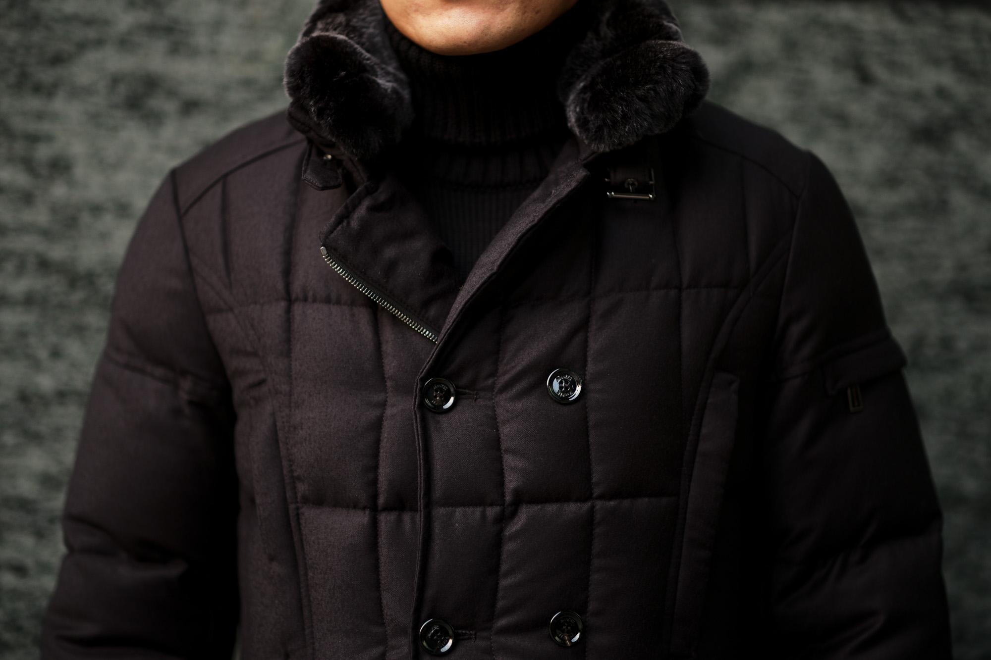 MOORER (ムーレー) SIRO-L (シロ) LoroPiana (ロロピアーナ) ウールカシミア ダブルブレスト ダウン ジャケット NERO(ブラック・08)  Made in italy (イタリア製) 【2019 秋冬分 ご予約受付中】 愛知 名古屋 altoediritto アルトエデリット
