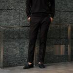 PT01 (ピーティーゼロウーノ) LOWER EAST SIDE HEPCAT SUPER SLIM FIT (スーパースリムフィット) STRETCH COMFORT FLANNEL ストレッチ フランネル ウール スラックス BLACK (ブラック・0990) 2019 秋冬新作のイメージ