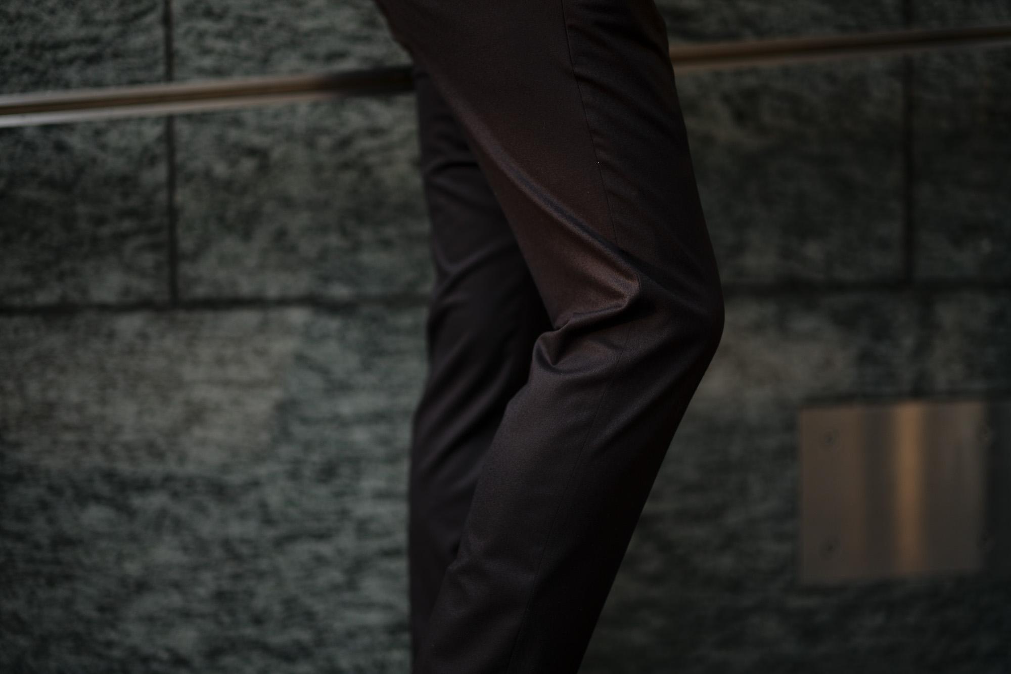 PT01 (ピーティーゼロウーノ) LOWER EAST SIDE HEPCAT SUPER SLIM FIT (スーパースリムフィット) STRETCH COMFORT FLANNEL ストレッチ フランネル ウール スラックス BLACK (ブラック・0990) 2019 秋冬新作 愛知 名古屋 altoediritto アルトエデリット