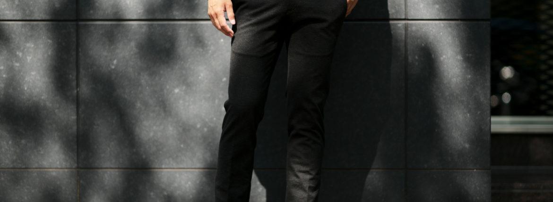 PT01 (ピーティーゼロウーノ) TRAVELLER (トラベラー) SUPER SLIM FIT (スーパースリムフィット) Stretch Techno Jersey ストレッチ テクノ ジャージ スラックス CHARCOAL GRAY (チャコールグレー・0250) 2019 秋冬新作のイメージ