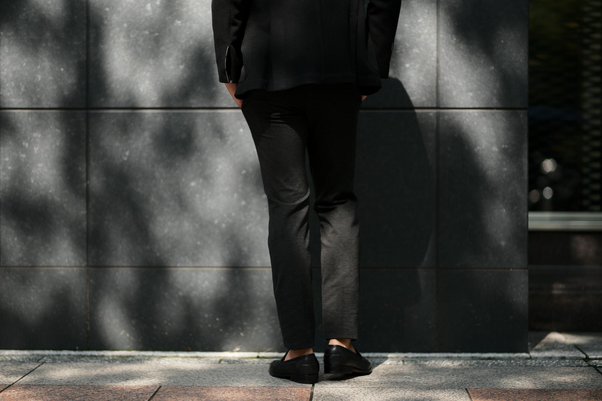 PT01 (ピーティーゼロウーノ) TRAVELLER (トラベラー) SUPER SLIM FIT (スーパースリムフィット) Stretch Techno Jersey ストレッチ テクノ ジャージ スラックス CHARCOAL GRAY (チャコールグレー・0250) 2019 秋冬新作 愛知 名古屋 altoediritto アルトエデリット