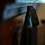 SILENCE (サイレンス) Single Rib Leather Jacket (シングル リブ レザー ジャケット) Lambskin Nappa Leather (ラムナッパ レザー) シングル ライダース ジャケット NERO (ブラック) Made in italy (イタリア製) 2019 秋冬新作のイメージ