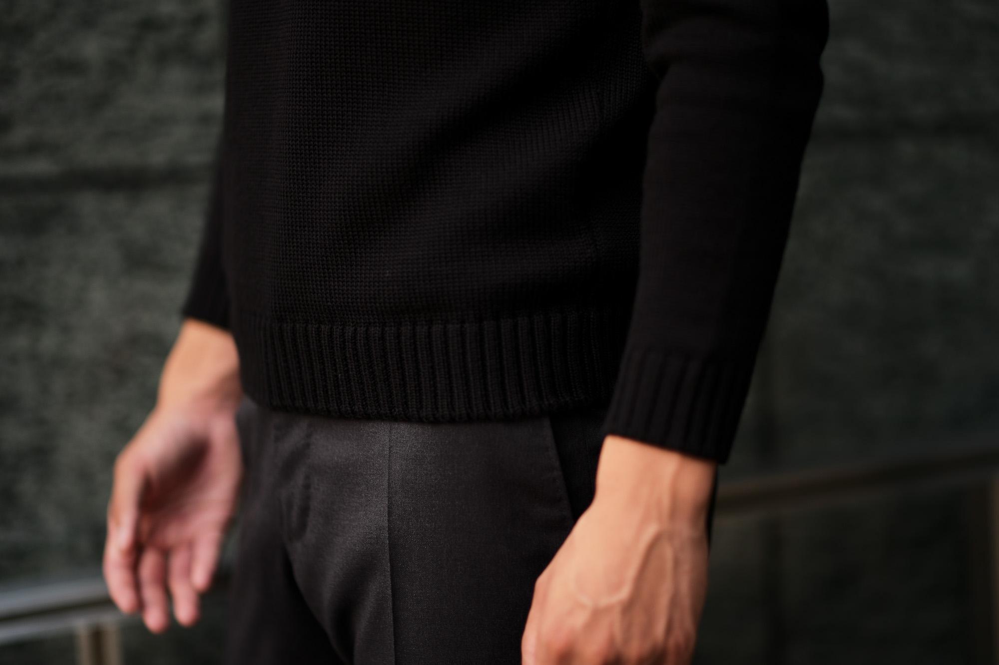 ZANONE (ザノーネ) Turtle Neck Sweater (タートルネックセーター) 810005 Z0229 VIRGIN WOOL 100% ミドルゲージ ウールニット セーター BLACK (ブラック・Z0015) made in italy (イタリア製) 2019 秋冬新作 【入荷済みとなります】【発売中】  zanone ニット クルーネック 愛知 名古屋 Alto e Diritto アルト エ デリット
