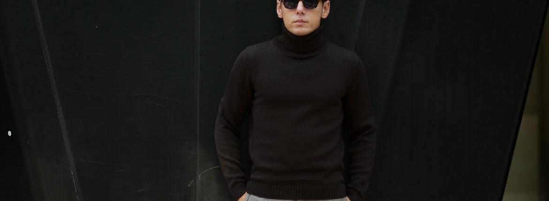 ZANONE (ザノーネ) Turtle Neck Sweater (タートルネックセーター) 810005 Z0229 VIRGIN WOOL 100% ミドルゲージ ウールニット セーター BROWN (ブラウン・Z5204) made in italy (イタリア製) 2019 秋冬新作 【入荷済みとなります】【発売中】のイメージ