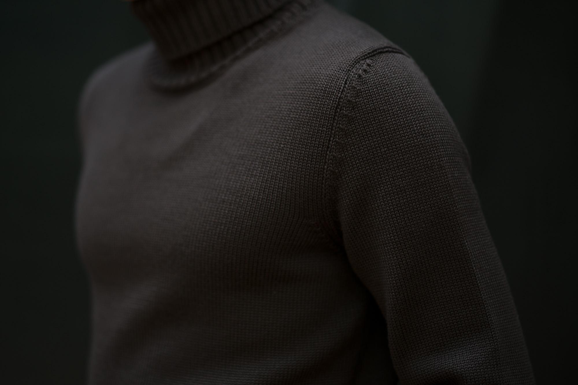 ZANONE (ザノーネ) Turtle Neck Sweater (タートルネックセーター) 810005 Z0229 VIRGIN WOOL 100% ミドルゲージ ウールニット セーター BROWN (ブラウン・Z5204) made in italy (イタリア製) 2019 秋冬新作 【入荷済みとなります】【発売中】  zanone ニット クルーネック 愛知 名古屋 Alto e Diritto アルト エ デリット