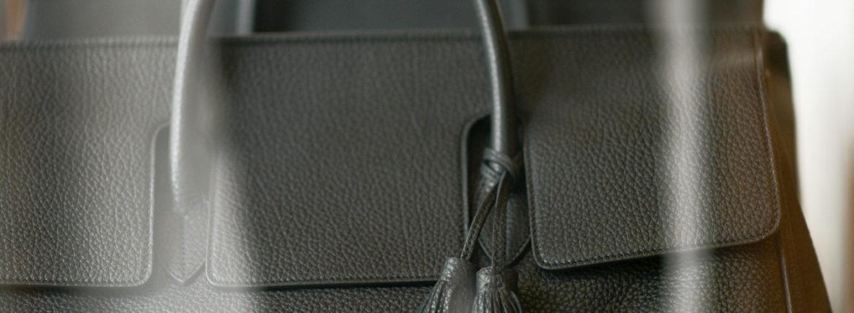 ACATE(アカーテ)OSTRO-M(オストロ-M) Montblanc leather(モンブランレザー) トートバック レザーバック NERO(ネロ) MADE IN ITALY(イタリア製) 2019 秋冬新作 【第1便第2便第3便入荷しました】のイメージ