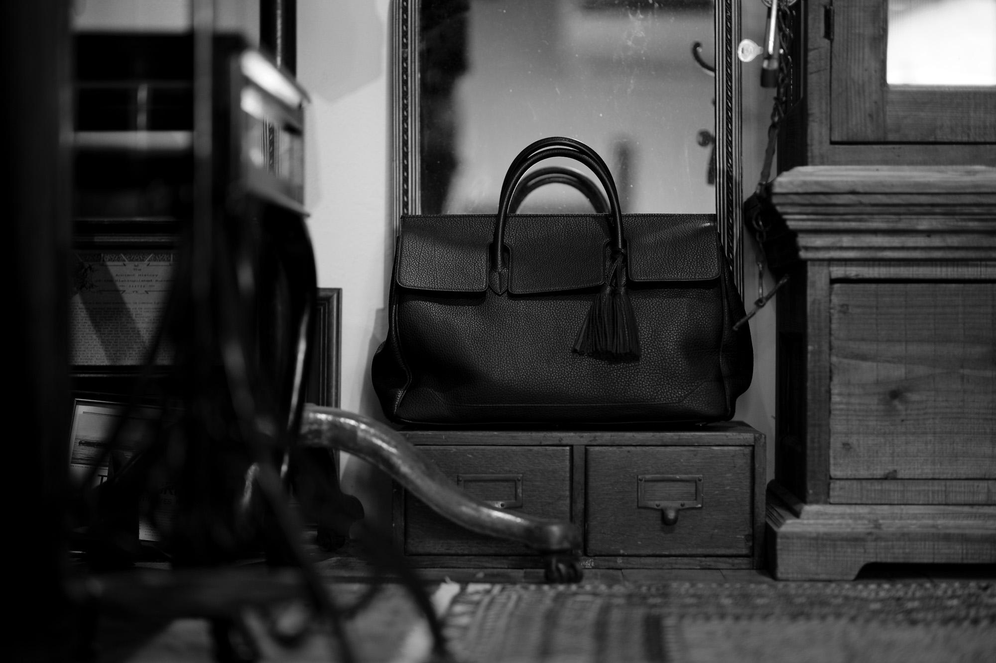 ACATE(アカーテ)OSTRO-M(オストロ-M) Montblanc leather(モンブランレザー) トートバック レザーバック NERO(ネロ) MADE IN ITALY(イタリア製) 2020 春夏 【ご予約受付中】愛知 名古屋 altoediritto アルトエデリット トートバック