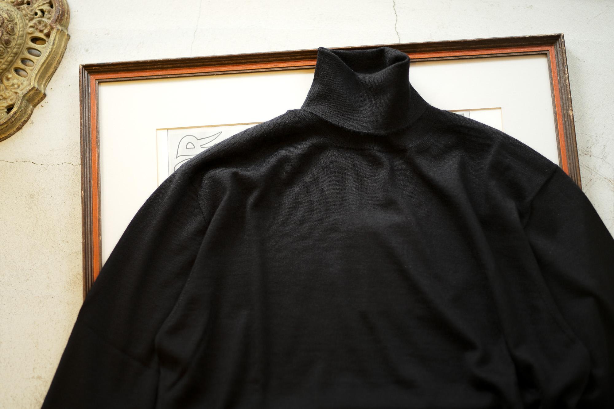 Cruciani(クルチアーニ) Silk Cashmere Turtle Neck Sweater (シルクカシミヤ タートルネック セーター) ハイゲージ シルクカシミヤニット セーター BLACK (ブラック・30060) made in italy (イタリア製) 2019 秋冬新作 愛知 名古屋 altoediritto アルトエデリット